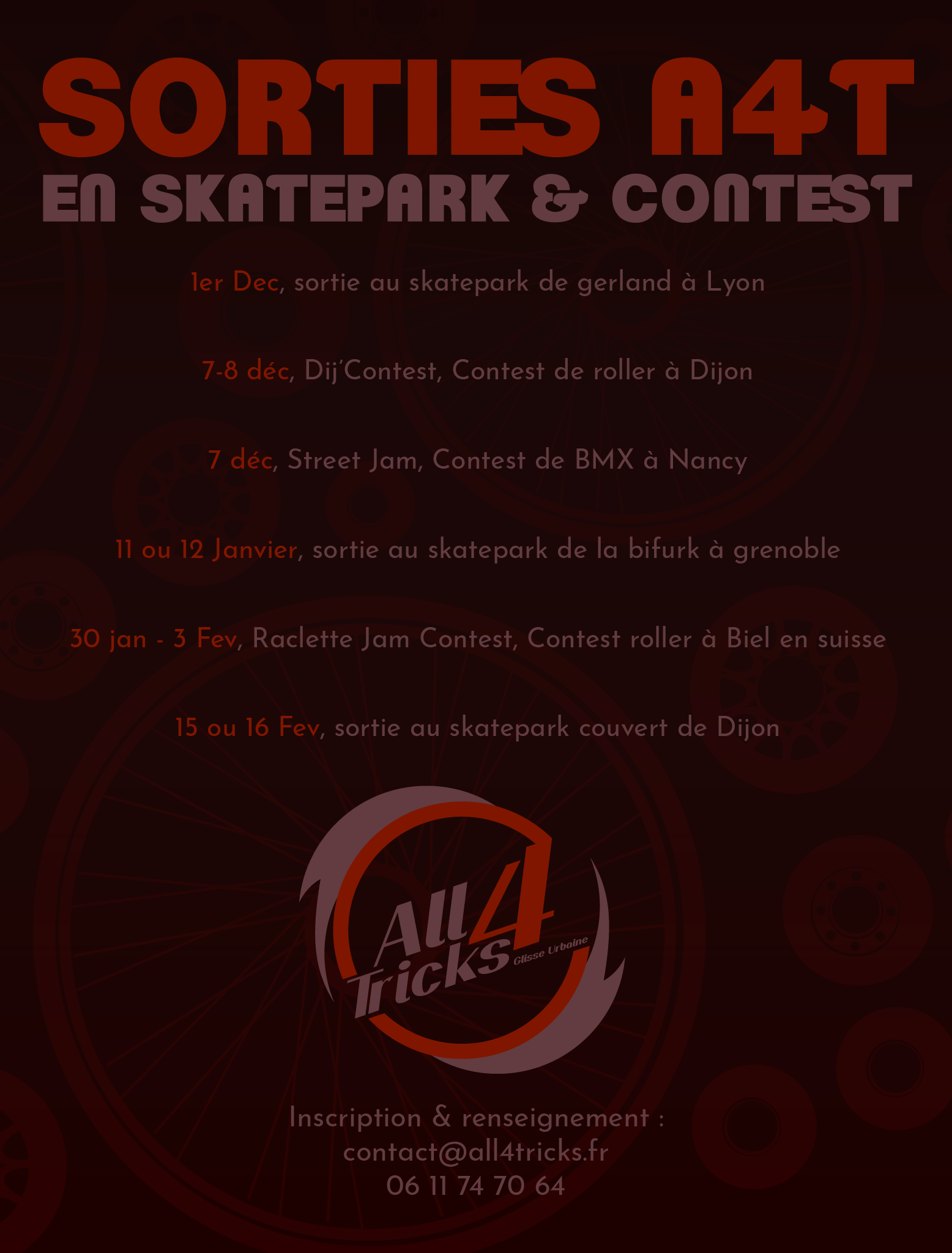 Chalon A4T All4tricks association sportive club de skate Web roller trottinette bmx contest event evenement initiation